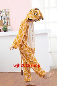 Giraffe pajamas Japanese cartoon characters kigurumi clothing pajamas