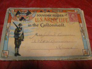 World War 1 Cantonment Postcard Souvenir Folder Army Life Book 1918