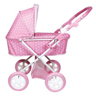New Girls Toy Pink Baby Doll Stroller Carriage Buggy