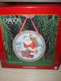 CARLTON ROOFTOP VISITOR 1998 CHRISTMAS ORNAMENTS SANTA CLAUS