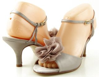 CAPARROS SOPHIA Lilac Satin Womens Designer Shoes Sandals 10