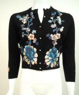 Vintage Helen Bond Carruthers Cardigan Black Cashmere Sweater