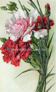 Catherine Klein Carnations Pink REPRO CARD frm Postcard