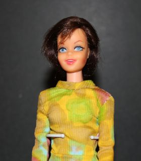 Vintage Barbie Francie Brunette Twist n Turn TNT Casey Doll