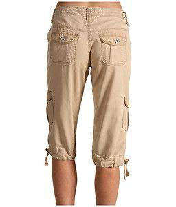 Jeans Petiet Size Chico Khaki Capitola Cargo Capri Pants 0001