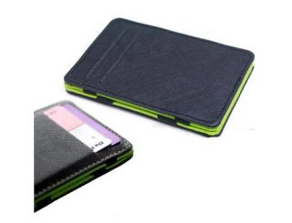Magic Money Clip Faux Leather Wallet ID Bag Cash Holder Credit Card