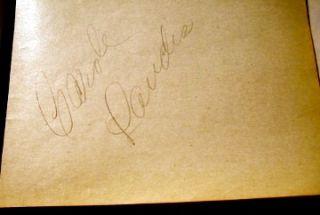 Carole Landis Actress Signature from Old Autograph Book Original