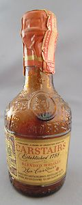 ANTIQUE UNOPENED EMPTY CARSTAIRS BLENDED WHISKEY Miniature Bottle TAX