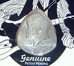 1968 Silver 1 2 Dollar Guitar Pick GENUINE MOJO Sonic USA Birth Year