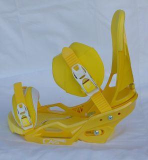 2013 Burton Cartel Est Snowboard Bindings M Mustard White Brand New $