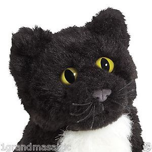 New American Girl Carolines Cat Inkpot Pet Black Kitten Plush Furry