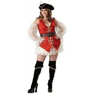 Pirate Treasure Womens Sexy Mrs Captain Morgan Halloween Costume Std