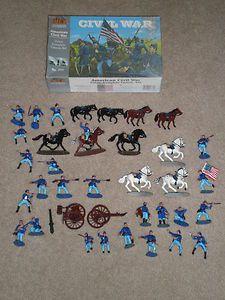 Civil War Union Complete Casson Set 777 Plastic Toy Soldiers MORE