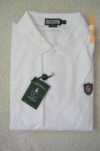 NWT Andrew Carrington Legend Mens Golf Polo Shirt Pima Cotton Long