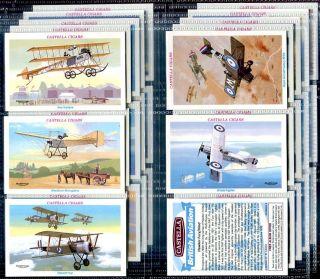 Tobacco Card Set Castella British Aviation Plane Aircraft Aeroplane