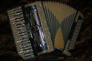 Castiglione Vintage Accordion Made in Italy 41 120 Great Condition