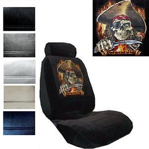 SEAT COVERS CAR TRUCK SUV PIRATE DEAD MEN TELL NO TALES LOW BACK pp 4