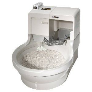 Cat Litter Box Pet NEW Self Cleaning Catgenie Flushing Kitty Container