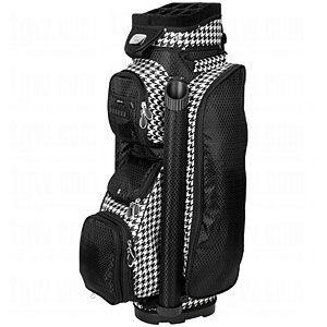 RJ Sports Ladies Boutique Cart Bag Blk Houndstooth Golf
