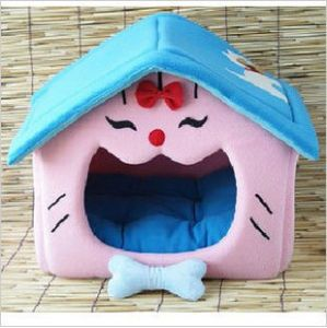 Pet Dog Cat Soft House Bed Cat Face House 36x41x41cm