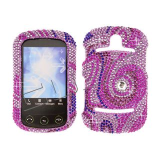 Pursuit II 2 P6010 Diamond Bling Case Cover / Pink Swirl 117 Crystal