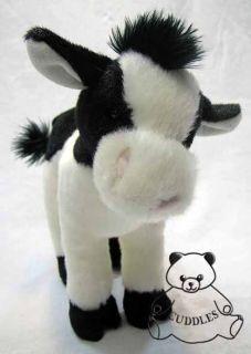 Sweet Cream Cow Calf Cuddle Plush Toy Stuffed Animal Douglas Black