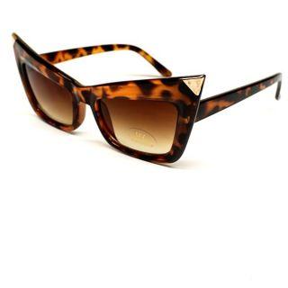 Wayfarer Vtg Cat Eye Vintage Womens Ladies Sunglasses Tortoise Gold