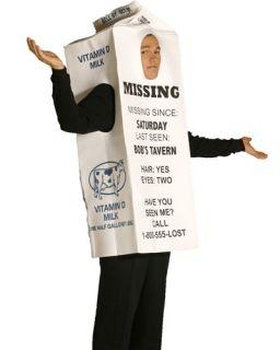Milk Carton Costume Lost Mens Funny Halloween Costume