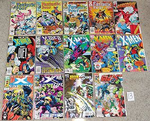 Lot 14 Marvel Comic Books Vtg Fantastic Four x Men x Factor Daredevil