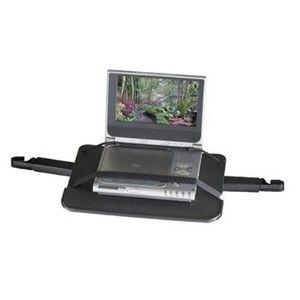 PORTABLE MEDIA DVD PLAYER CASE CAR MOUNT HOLDER SECURE RUGGED DESIGN