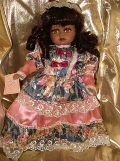 Cassandra Beautiful Black Porcelain Doll African American