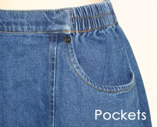 Cathy Daniels Sz M Denim Blue Jean Long Skirt Seamed Pockets Casual