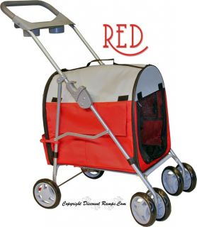 New Red Folding Cat Stroller Carrier Dog Strollers Cats Pet Str 9 Red