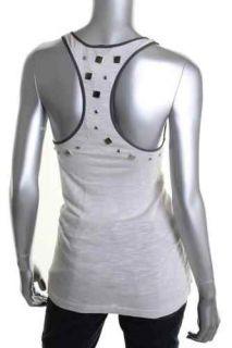Vena CAVA Gray Sleeveless Scoop Neck Embellished Tank Top XS BHFO