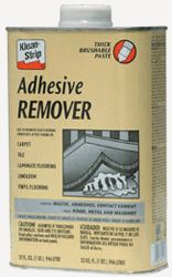 Klean Strip Adhesive Remover Takes Off Mastic on Tile Carpet or
