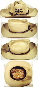 Vintage Stetson Hat with 7th Cavalry Insignia Hat Cord