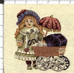 Vintage Betsy McCall Style Baby Doll Baby Carriage Tapestry Fabric