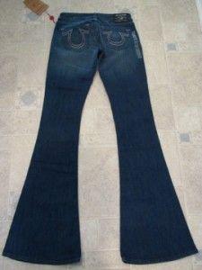 True Religion Jeans Carrie Titan Skinny Flare Womens New