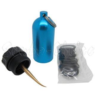 Scuba Diving Dive Mini Tank Key Ring with Brass Pick & 10 O Rings Tool