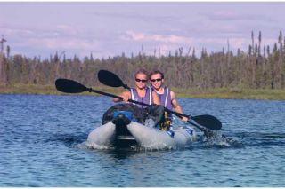Paddleski 5 in 1 Inflatable Catamaran Kayak Boat Pro Package