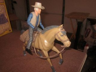 Bonanza Ben Cartwright Action Figure with Horse 1960s American