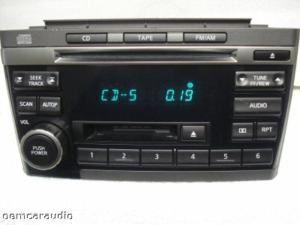 01 02 03 Nissan Maxima Radio Stereo Tape CD Player PN 2431D CN120 2002