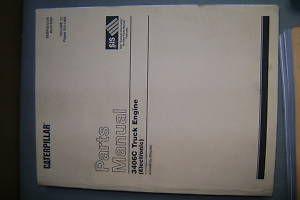 Caterpillar Cat 3406C Truck Engine Parts Book Manual