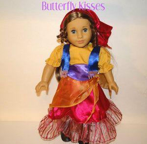 Costume 6 Pieces Halloween Marie Cecile Doll Clothes Fit American Girl