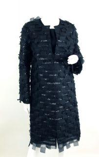 76 143 CAROLINA HERRERA at SOCIALITE AUCTIONS sz10 Black Sequin Dress