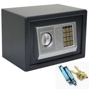 Digital Lock Keypad Safe Box Home Security Gun Cash Jewel 2 Key