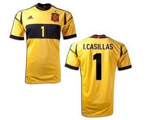 Final Espana Shirt Euro Goalkeeper Casillas Real Madrid Jersey