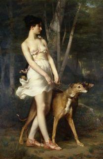 Gaston Casimir Saint Pierre Diana The Huntress Nake Woman Hunts