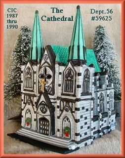 Cathedral Department Dept 56 Christmas in The City Village D56 CIC