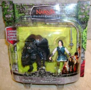 Prince Caspian Action Figures Wer Wolf and Castle RAID Caspian